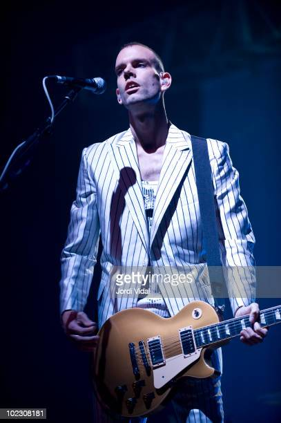 Stefan Olsdal of Placebo performs on stage at Palau Sant Jordi on June 22, 2010 in Barcelona, Spain.