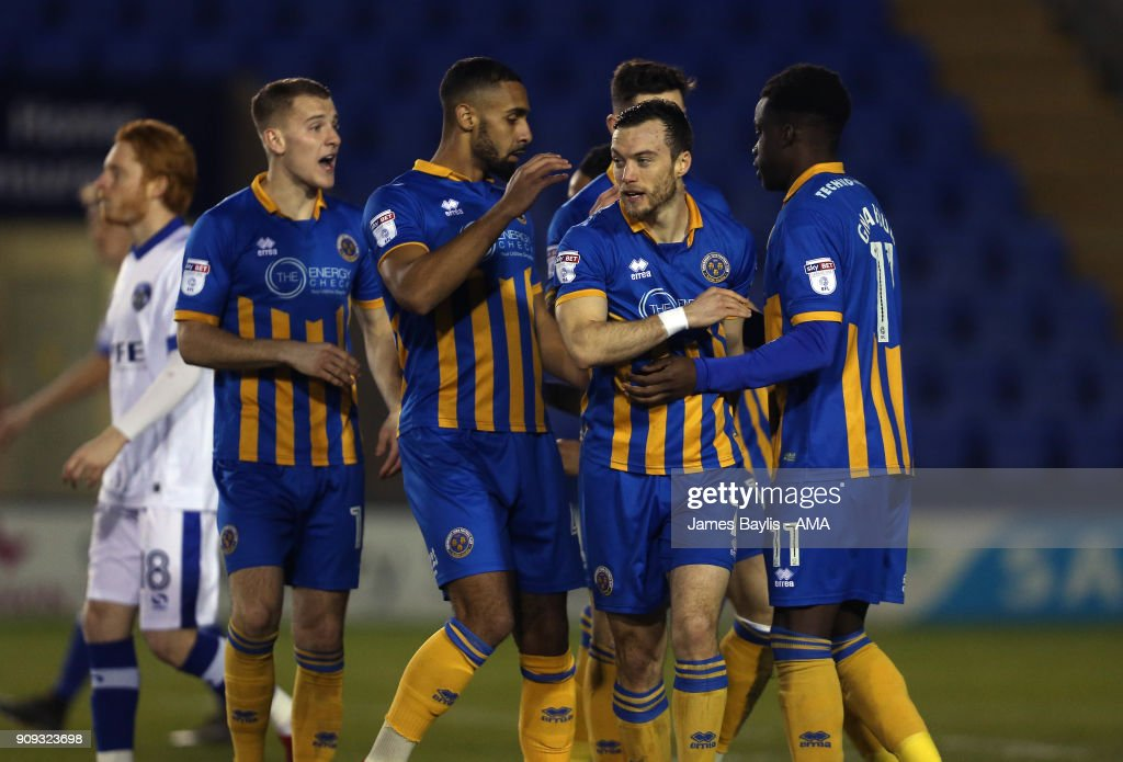 Shrewsbury Town v Oldham Athletic - Checkatrade Trophy