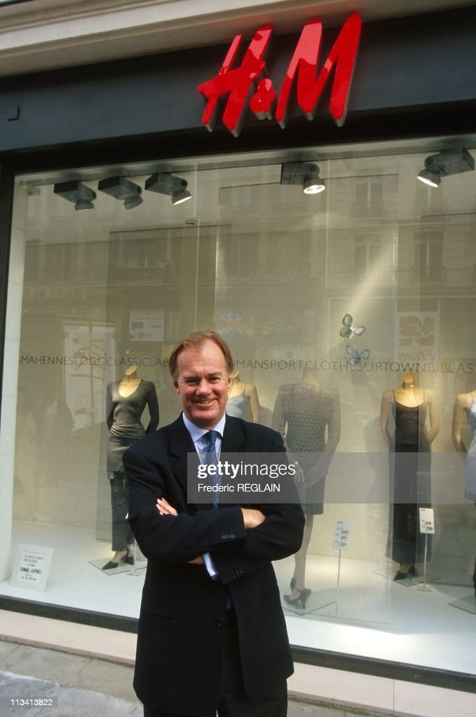 Stefan Persson, H&M Stores Ceo, Inaugurates His 1St Parisian Store On February 25th, 1998. In Paris,France : News Photo