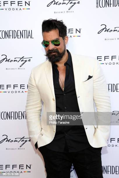 Stefan Pinto attends the Los Angeles Confidential Celebration for Portraits of Pride with GLAAD and Laverne Cox on June 4 2018 in Beverly Hills...