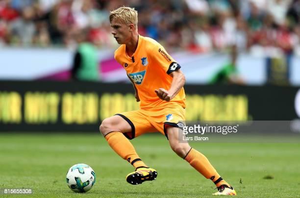 Stefan Posch of Hoffenheim runs with the ball during the Telekom Cup 2017 3rd place match between Borussia Moenchengladbach and TSG Hoffenheim at...