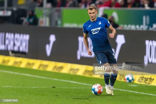 Stefan Posch of TSG 1899 Hoffenheim controls the Ball during the Bundesliga match between TSG Hoffenheim and 1. FC Köln at PreZero-Arena on October...