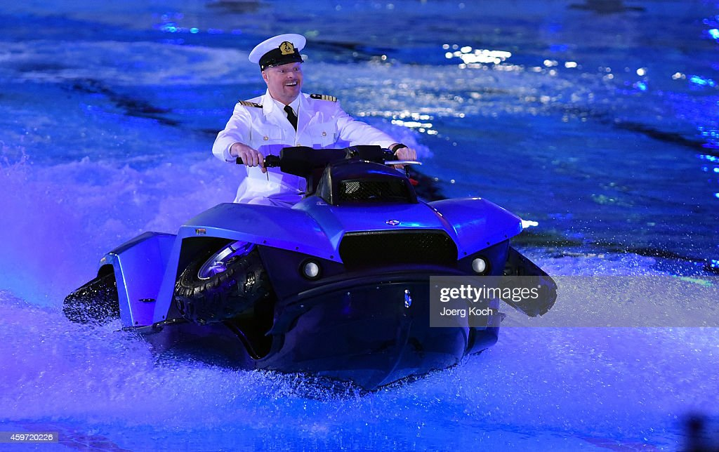 Stefan Raab attends the TV show 'TV Total Turmspringen' on November 29, 2014 in Munich, Germany. 'TV Total Turmspringen' is an annual TV show competition between celebrities in the disciplines of single and synchronized high diving.
