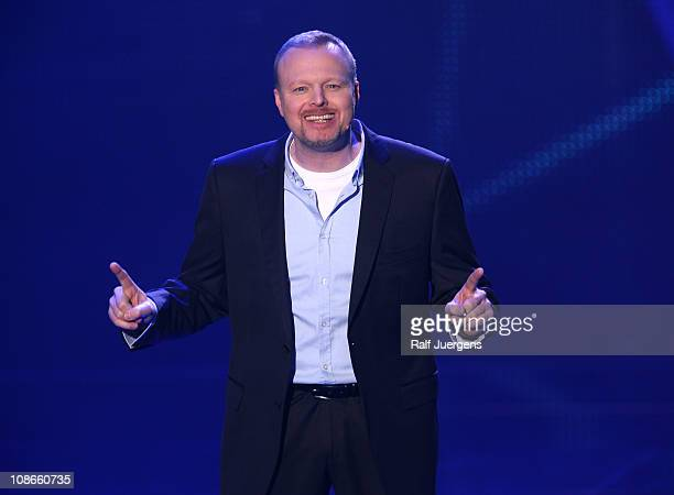 Stefan Raab attends the TV show 'Unser Song fuer Deutschland' on January 31, 2011 in Cologne, Germany.