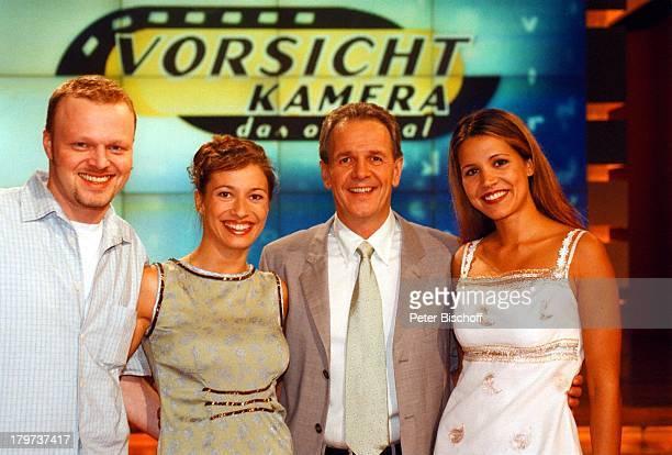 Stefan Raab DanielaNoack Fritz EgnerKaren Webb SAT1 Show Vorsicht Kamera