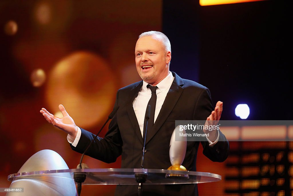 Stefan Raab speaks on stage after receiving the 'Ehrenpreis' at the 19th Annual German Comedy Awards at Coloneum on October 20, 2015 in Cologne, Germany.