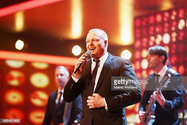 Stefan Raab speaks on stage at the 19th Annual German Comedy Awards at Coloneum on October 20, 2015 in Cologne, Germany.