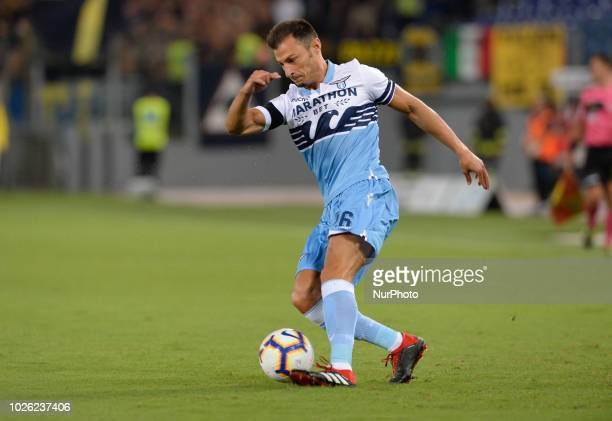 Stefan Radu during the Italian Serie A football match between SS Lazio and Frosinone at the Olympic Stadium in Rome on september 02 2018