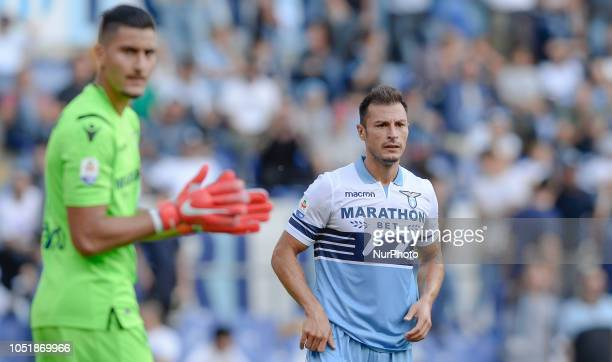 Stefan Radu during the Italian Serie A football match between SS Lazio and Fiorentina at the Olympic Stadium in Rome on october 07 2018