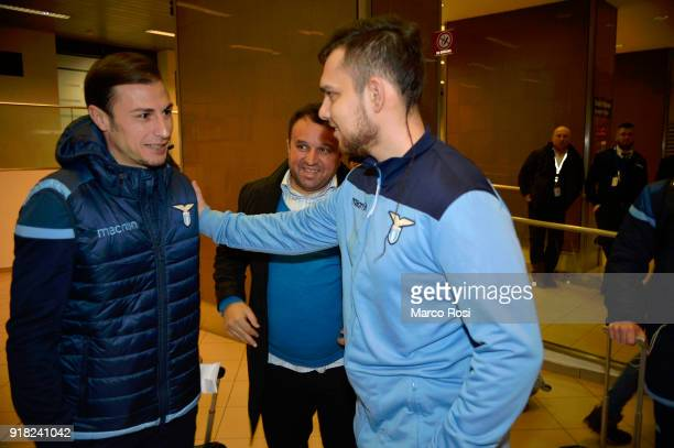 Stefan Radu of SS Lazio as SS Lazio travel to Bucharest on February 14 2018 in Rome Italy