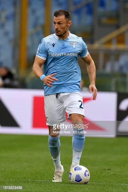 Stefan Radu of SS Lazio in action during the Serie A match between SS Lazio and Benevento Calcio at Stadio Olimpico on April 18, 2021 in Rome, Italy....