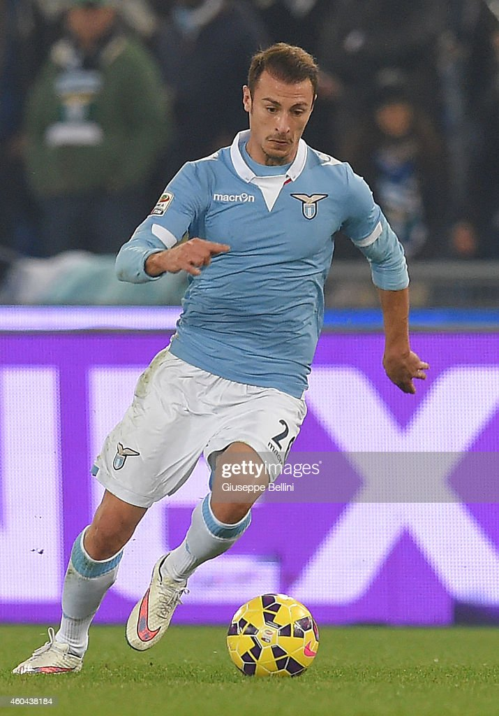 Stefan Radu of SS Lazio in action during the Serie A match between SS Lazio and Atalanta BC at Stadio Olimpico on December 13, 2014 in Rome, Italy.