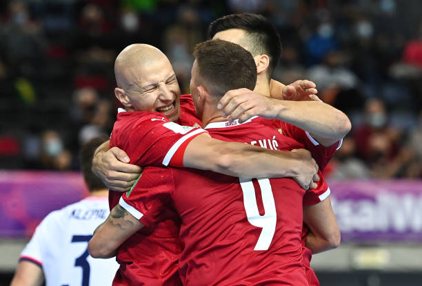 LTU: USA v Serbia: Group F - FIFA Futsal World Cup 2021
