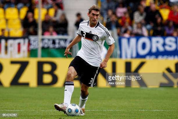 Stefan Reinartz of Germany runs with the ball during the UEFA U21 Championship qualifying match between Germany and San Marino at the Tivoli stadium...