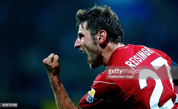 Stefan Reisinger of Freiburg celebrates after scoring the second goal during the Bundesliga match between VfL Bochum and SC Freiburg at the...
