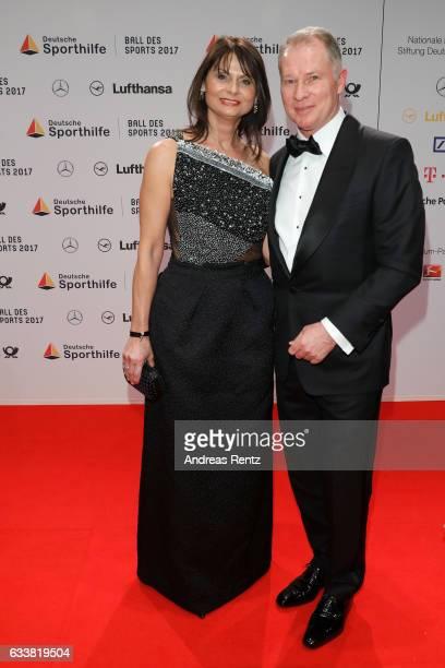 Stefan Reuter and Annette Reuss attend the German Sports Gala 'Ball des Sports 2017' on February 4 2017 in Wiesbaden Germany