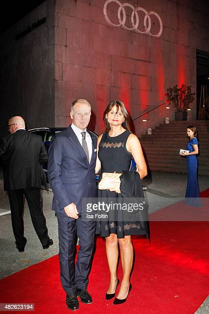 Stefan Reuter and Annette Ruess attend the Audi Night 2015 on July 31 2015 in Salzburg Austria