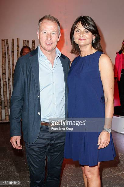 Stefan Reuter and Annette Ruess attend the OTTO Exclusive Sport Cooperation celebrations on May 04 2015 in Munich Germany