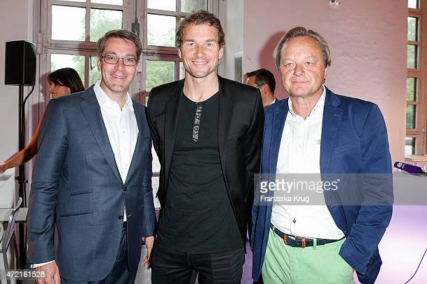 Stefan Reuter Jens Lehmann and Hajo Schneider attend the OTTO Exclusive Sport Cooperation celebrations on May 04 2015 in Munich Germany