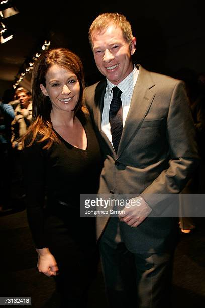 Stefan Reuter, Manager of TSV 1860 Munich football club and his wife Brigitte attend the Kitzrace Party, January 27 in Kitzbuehel, Austria.