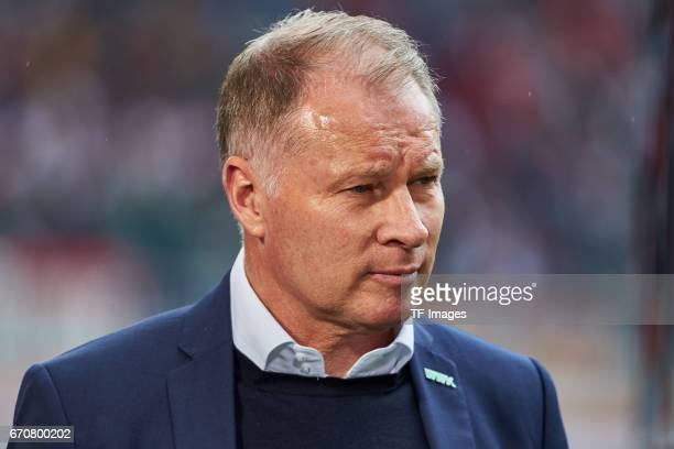 Stefan Reuter of Augsburg looks on during the Bundesliga match between FC Augsburg and 1 FC Koeln at WWK Arena on April 15 2017 in Augsburg Germany