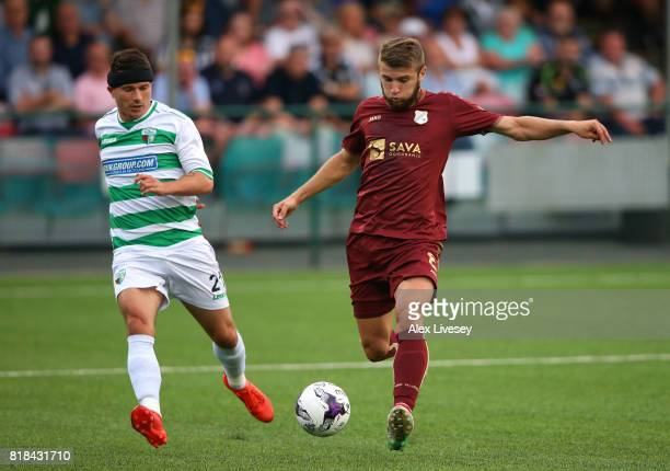 Stefan Ristovski of HNK RIjeka scores the fourth goal during the UEFA Champions League second qualifying round second leg match between The New...