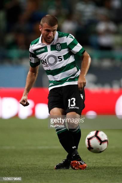 Stefan Ristovski of Sporting in action during Primeira Liga 2018/19 match between Sporting CP vs CD Feirense in Lisbon on September 1 2018
