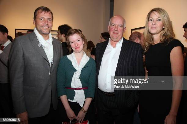 Stefan Ropke Mary Dohne Nicholas Metivier and Sarah Hasted attend EDWARD BURTYNSKY Artist Reception at HASTED HUNT KRAEUTLER on October 6 2009 in New...