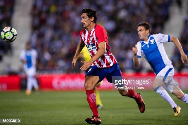 Stefan Savic of Atletico de Madrid in action during the La Liga 201718 match between CD Leganes and Atletico de Madrid on 30 September 2017 in Madrid...