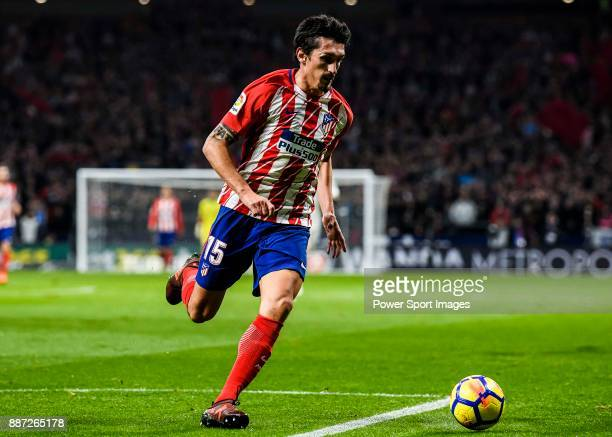Stefan Savic of Atletico de Madrid in action during the La Liga 201718 match between Atletico de Madrid and Real Madrid at Wanda Metropolitano on...
