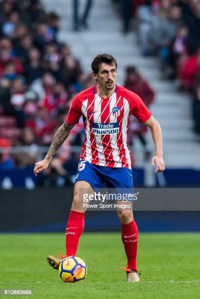 Stefan Savic of Atletico de Madrid in action during the La Liga 201718 match between Atletico de Madrid and Girona FC at Wanda Metropolitano on 20...