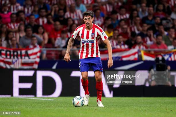 Stefan Savic of Atletico Madrid during the La Liga Santander match between Atletico Madrid v Getafe at the Estadio Wanda Metropolitano on August 18...