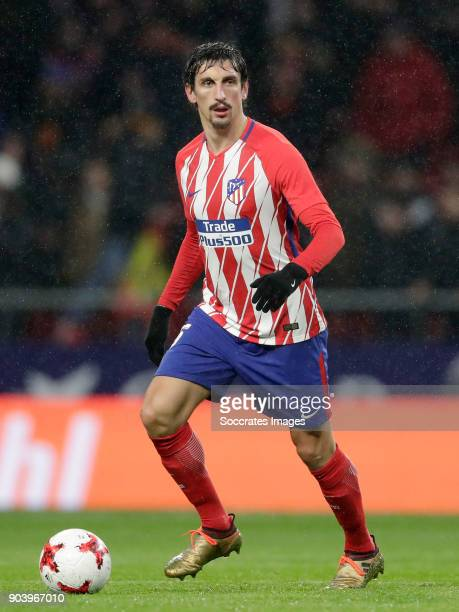 Stefan Savic of Atletico Madrid during the Spanish Copa del Rey match between Atletico Madrid v Lleida on January 9 2018