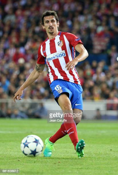 Stefan Savic of Atletico Madrid during the UEFA Champions League Semi Final second leg match between Club Atletico de Madrid and Real Madrid CF at...