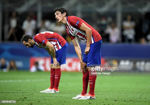 Stefan Savic of Atletico Madrid is seen during the UEFA Champions League Final match between Real Madrid and Club Atletico de Madrid at Stadio...