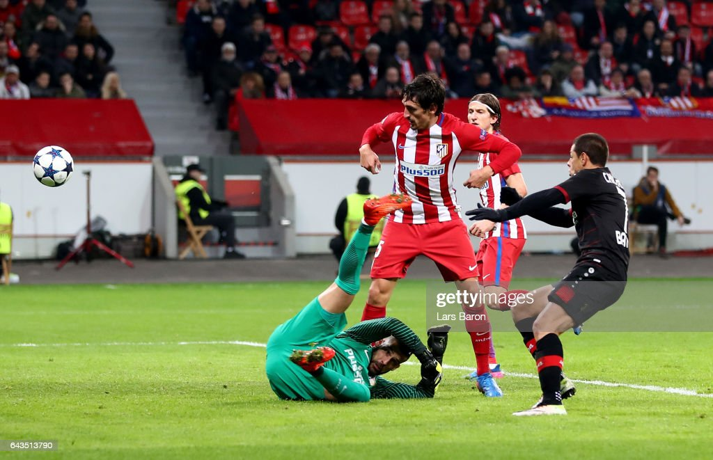 Bayer Leverkusen v Club Atletico de Madrid - UEFA Champions League Round of 16: First Leg : News Photo