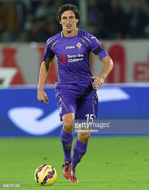 Stefan Savic of Fiorentina in action during the Serie A match between ACF Fiorentina and SSC Napoli at Stadio Artemio Franchi on November 9 2014 in...