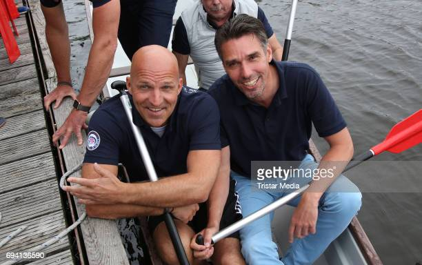 Stefan Schnoor and Michael Stich attend the Michael Stich Foundation Presents Dragon Boat Cup on June 9 2017 in Hamburg Germany