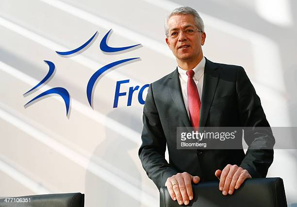 Stefan Schulte chief executive officer of Fraport AG the operator of Frankfurt Airport poses for a photograph as Fraport announce their results at...