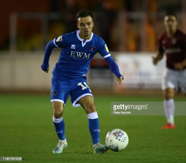 Stefan Scougall of Carlisle United in action during the Sky Bet League Two match between Carlisle United and Northampton Town at Brunton Park on...