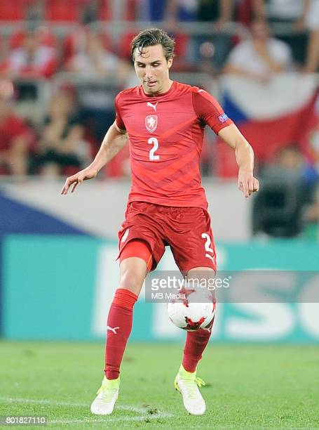 Stefan Simic during the UEFA European Under21 match between Czech Republic and Denmark at Arena Tychy on June 24 2017 in Tychy Poland