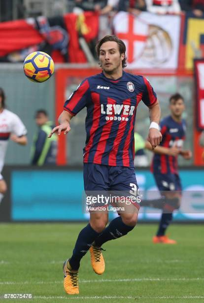 Stefan Simic of Crotone during the Serie A match between FC Crotone and Genoa CFC at Stadio Comunale Ezio Scida on November 19 2017 in Crotone Italy