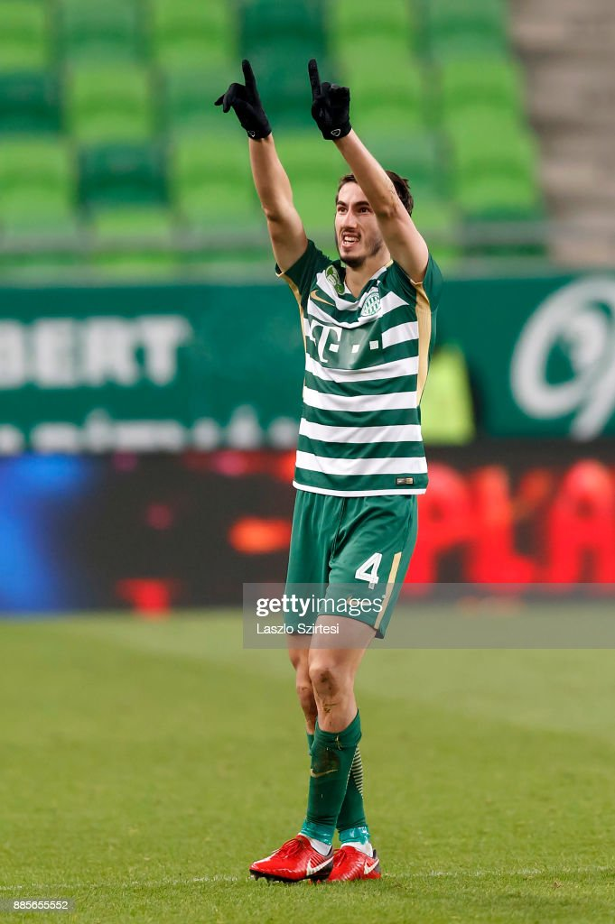 Stefan Spirovski of Ferencvarosi TC celebrates his goal during the Hungarian OTP Bank Liga match between Ferencvarosi TC and Videoton FC at Groupama Arena on December 2, 2017 in Budapest, Hungary.