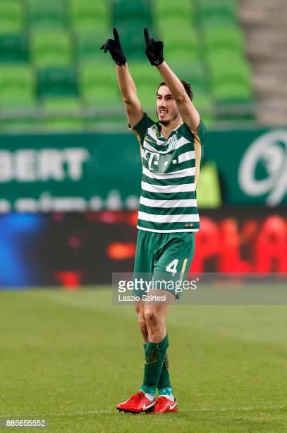 Stefan Spirovski of Ferencvarosi TC celebrates his goal during the Hungarian OTP Bank Liga match between Ferencvarosi TC and Videoton FC at Groupama...