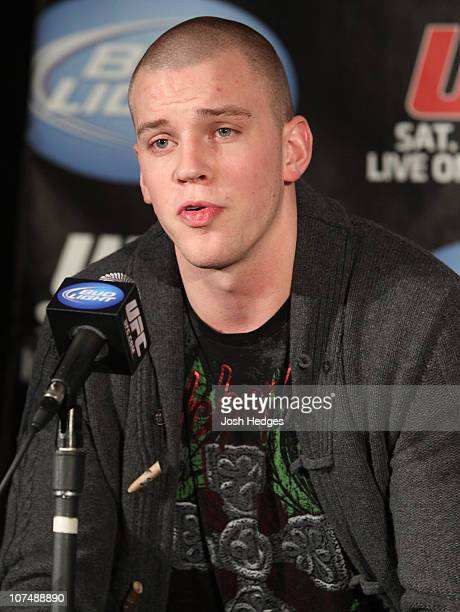 Stefan Struve at the UFC 124 pre-fight press conference at the Bell Centre on December 9, 2010 in Montreal, Quebec, Canada.