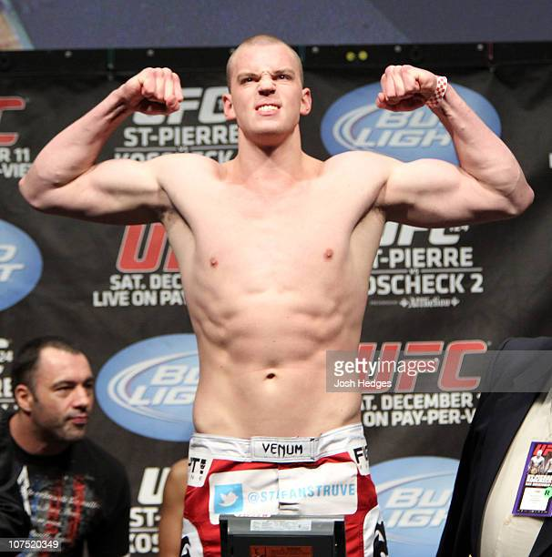 Stefan Struve weighs in at 253 lbs at the UFC 124 Weigh-in at the Bell Centre on December 10, 2010 in Montreal, Quebec, Canada.