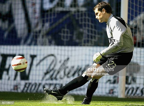 Stefan Waechter of Hamburg in action during the Bundesliga match between Hamburger SV and Hansa Rostock at the AOL Arena on April 23 2005 in Hamburg...