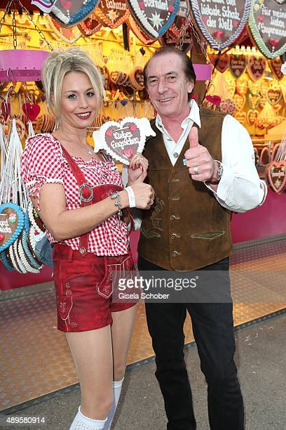 Stefan Zauner, singer 'Muenchener Freiheit' and his wife Petra Zauner during the Oktoberfest 2015 at Theresienwiese on September 22, 2015 in Munich,...