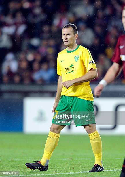 Stefan Zosak of MSK Zilina during the Champions League Playoff match between Sparta Prague and Zilina at Generali Arena on August 17 2010 in Prague...