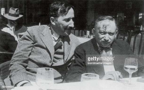 Stefan Zweig and Josef Roth in Ostende Belgium Photography 1936 [Stefan Zweig und Joseph Roth in Ostende Belgien Photographie 1936]